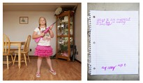 Abby, aged 8, from Louisiana, in a photograph by An-Sofie Kesteleyn from the series My Little Rifle