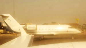 Mysterious American private jet spotted in Tehran.